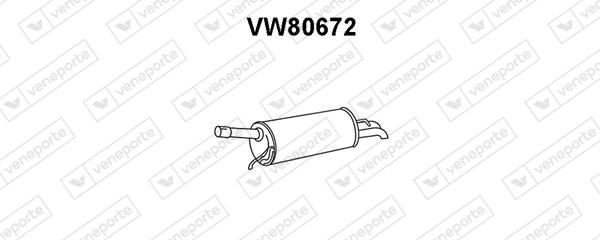 Silencieux arriere VENEPORTE VW80672 (X1)