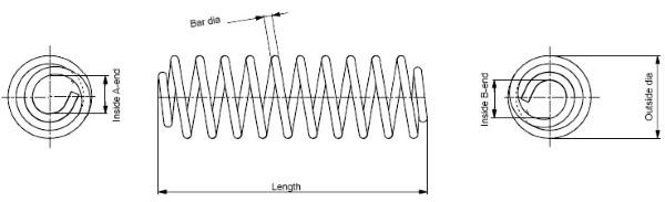 Ressort de suspension MONROE SP3476 (X1)