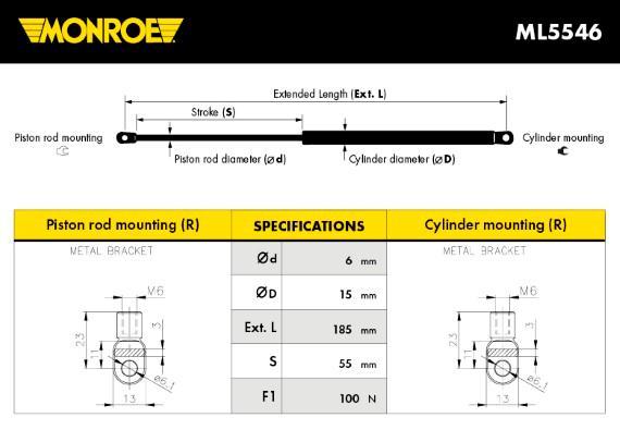 Autres verins MONROE ML5546 (X1)