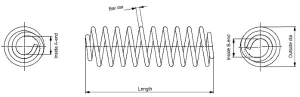 Ressort de suspension MONROE SP4016 (X1)