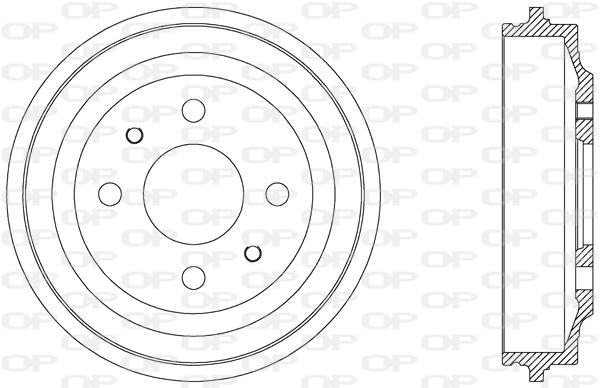 Tambour de frein arriere Solid parts BAD9000.10 (X1)