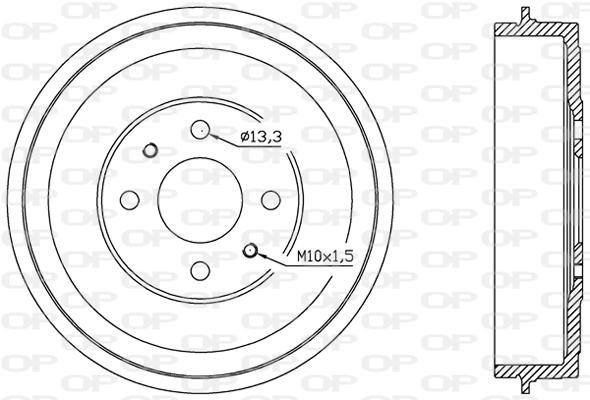 Tambour de frein arriere Solid parts BAD9002.10 (X1)