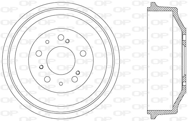 Tambour de frein arriere Solid parts BAD9003.10 (X1)