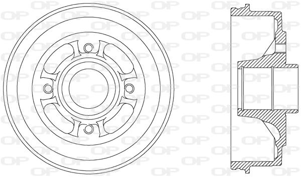 Tambour de frein arriere Solid parts BAD9006.30 (X1)