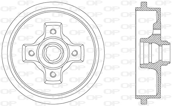Tambour de frein arriere Solid parts BAD9012.40 (X1)