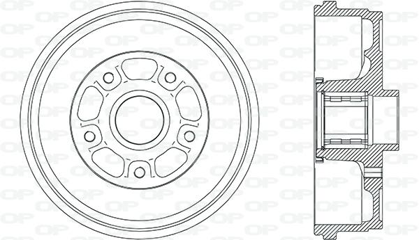 Tambour de frein arriere Solid parts BAD9023.10 (X1)