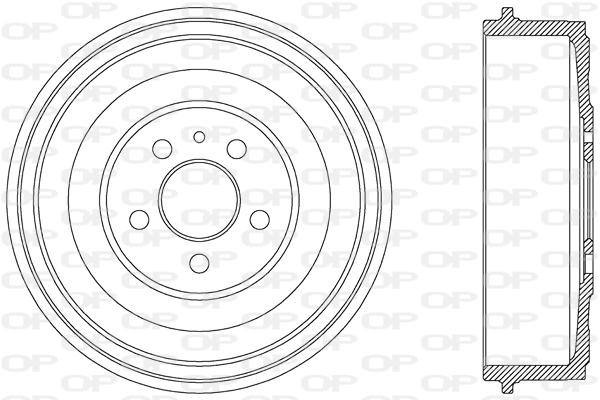 Tambour de frein arriere Solid parts BAD9028.10 (X1)