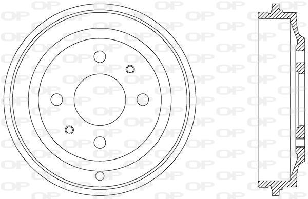 Tambour de frein arriere Solid parts BAD9031.10 (X1)