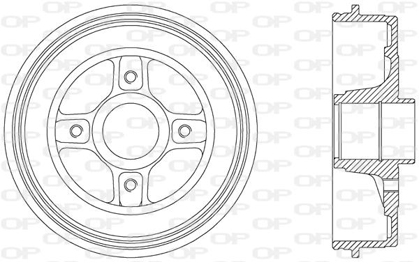 Tambour de frein arriere Solid parts BAD9039.30 (X1)