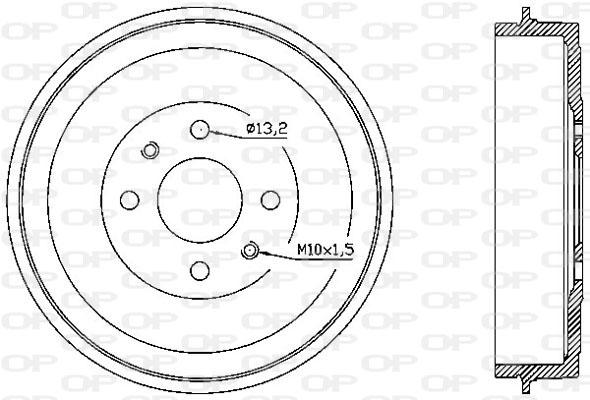 Tambour de frein arriere Solid parts BAD9043.10 (X1)