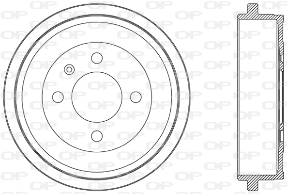 Tambour de frein arriere Solid parts BAD9048.10 (X1)