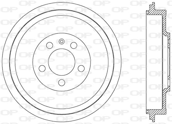Tambour de frein arriere Solid parts BAD9049.10 (X1)