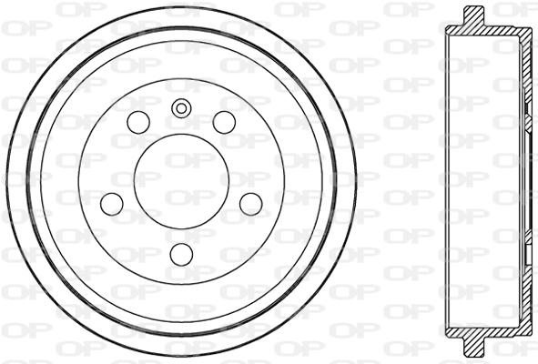Tambour de frein arriere Solid parts BAD9054.10 (X1)