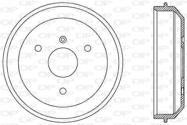 Tambour de frein arriere Solid parts BAD9055.10 (X1)