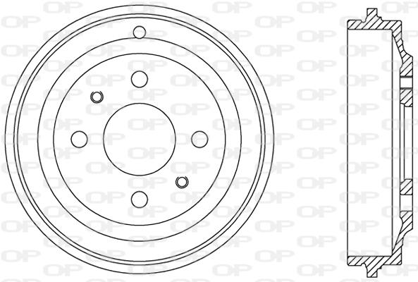 Tambour de frein arriere Solid parts BAD9064.10 (X1)