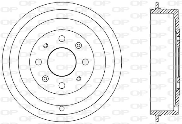 Tambour de frein arriere Solid parts BAD9065.10 (X1)