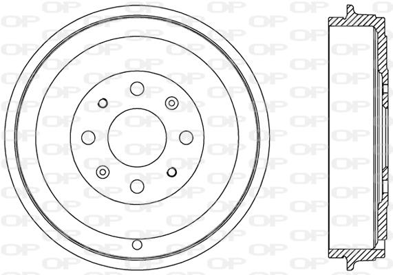 Tambour de frein arriere Solid parts BAD9066.10 (X1)