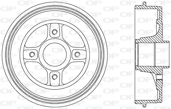 Tambour de frein arriere Solid parts BAD9068.30 (X1)