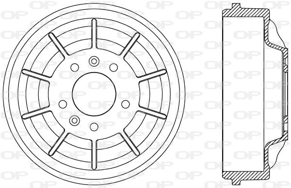 Tambour de frein arriere Solid parts BAD9079.10 (X1)