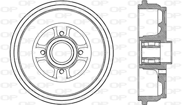 Tambour de frein arriere Solid parts BAD9087.31 (X1)