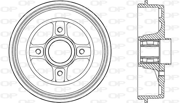 Tambour de frein arriere Solid parts BAD9088.31 (X1)