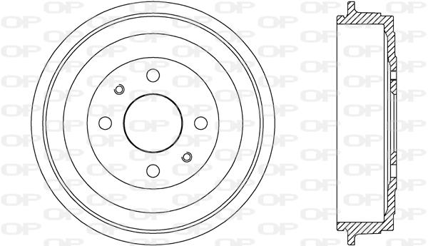 Tambour de frein arriere Solid parts BAD9089.10 (X1)