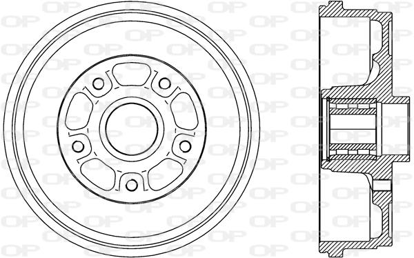 Tambour de frein arriere Solid parts BAD9092.31 (X1)