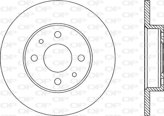 Disque de frein Solid parts BDA1144.10 (Jeu de 2)