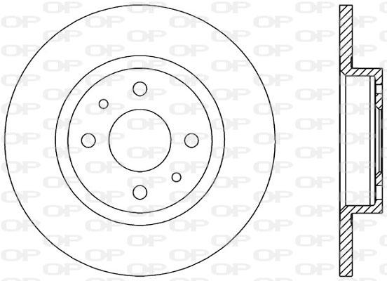 Disque de frein avant Solid parts BDA1145.10 (Jeu de 2)