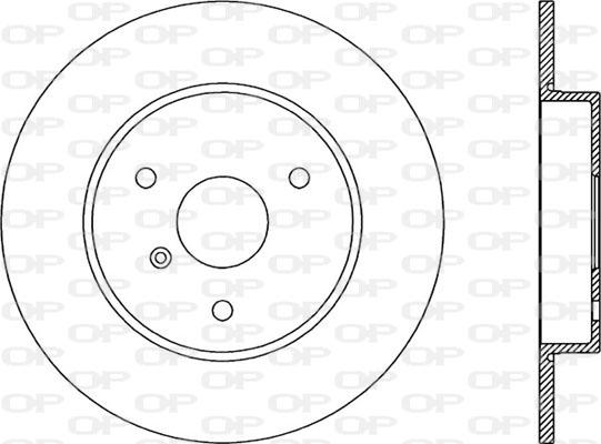Disque de frein avant Solid parts BDA1864.10 (Jeu de 2)