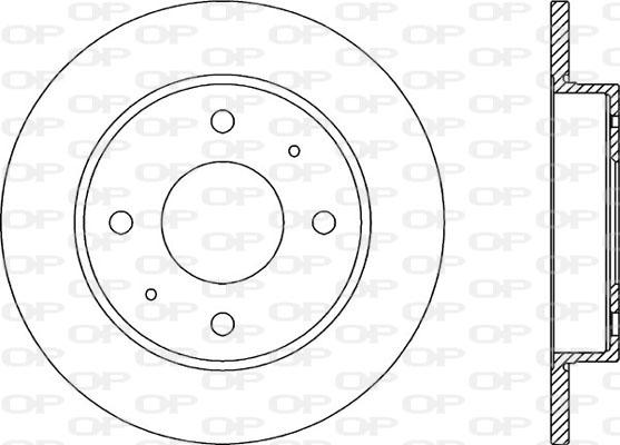 Disque de frein arriere Solid parts BDA2039.10 (Jeu de 2)