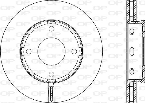 Disque de frein avant Solid parts BDA2055.20 (Jeu de 2)