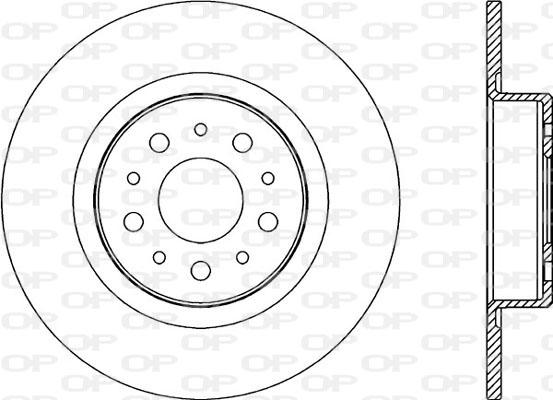 Disque de frein arriere Solid parts BDA2179.10 (Jeu de 2)