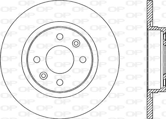 Disque de frein avant Solid parts BDA2322.10 (Jeu de 2)