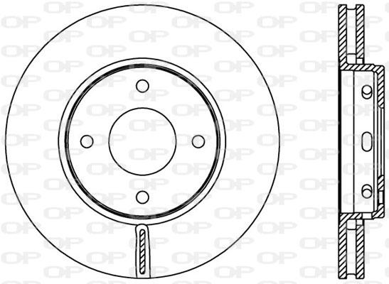 Disque de frein avant Solid parts BDA2403.20 (Jeu de 2)