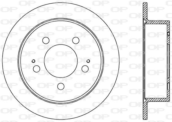 Disque de frein arriere Solid parts BDA2527.10 (Jeu de 2)