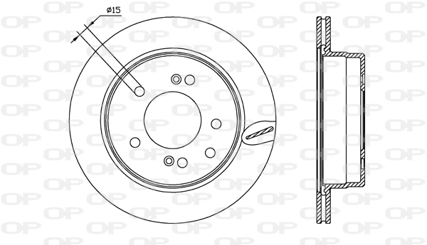 Disque de frein arriere Solid parts BDA2557.20 (Jeu de 2)