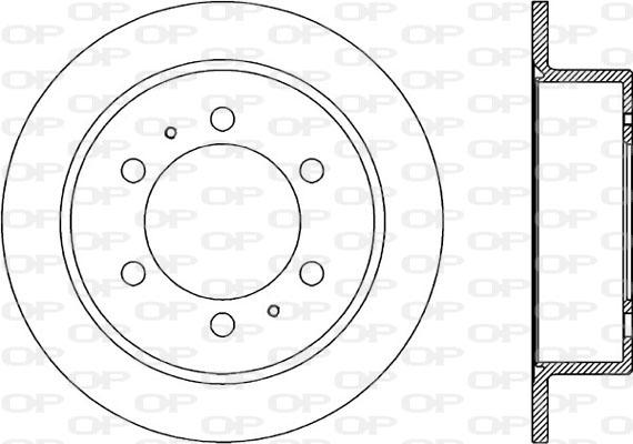 Disque de frein arriere Solid parts BDR1860.10 (Jeu de 2)