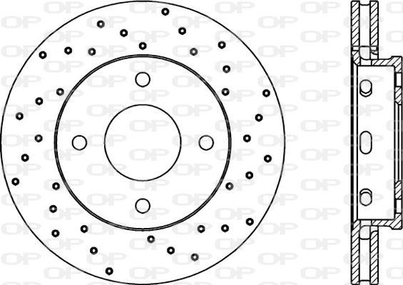 Disque de frein avant Solid parts BDRS2055.25 (Jeu de 2)