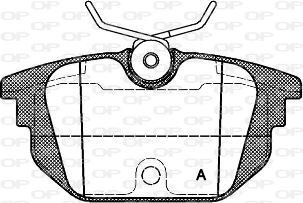 Plaquettes de frein arriere OPEN PARTS BPA0692.00 (Jeu de 4)