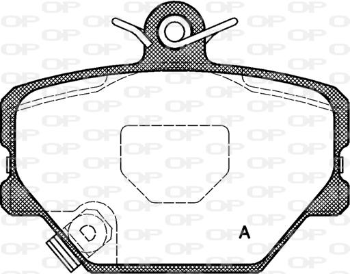 Plaquettes de frein avant Solid parts BPA0705.02 (Jeu de 4)