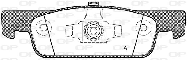 Plaquettes de frein avant Solid parts BPA1540.00 (Jeu de 4)