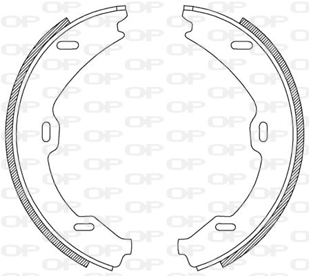 kit de frein arrière simple ou prémonté Solid parts BSA2188.00 (Jeu de 4)