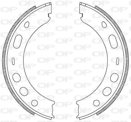 kit de frein arrière simple ou prémonté Solid parts BSA2204.00 (Jeu de 4)