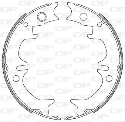 kit de frein arrière simple ou prémonté Solid parts BSA2208.00 (Jeu de 4)