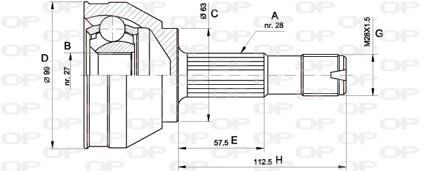 Joints spi/homocinetiques Solid parts CVJ5018.10 (X1)