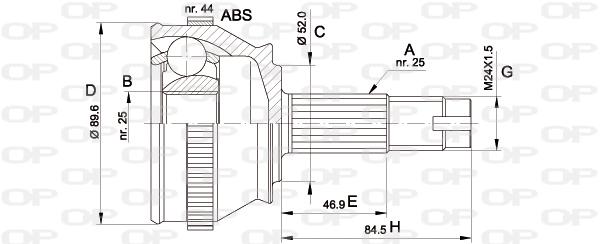 Joints spi/homocinetiques Solid parts CVJ5092.10 (X1)
