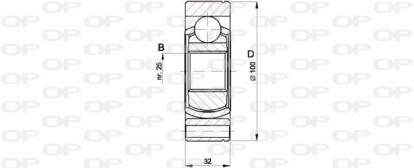 Joints spi/homocinetiques Solid parts CVJ5399.20 (X1)