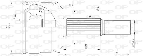 Joints spi/homocinetiques Solid parts CVJ5642.10 (X1)