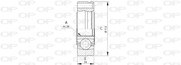 Joints spi/homocinetiques Solid parts CVJ5693.20 (X1)